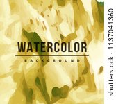 modern watercolor vector... | Shutterstock .eps vector #1137041360