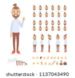 front  side  back view animated ... | Shutterstock .eps vector #1137043490