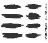 black and white paint stroke... | Shutterstock .eps vector #1137050318