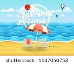 seaside vector illustration... | Shutterstock .eps vector #1137050753