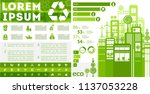 flat vector eco infographics | Shutterstock .eps vector #1137053228