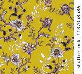 seamless pattern with ethnic... | Shutterstock .eps vector #1137058586