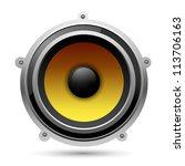 audio speaker  eps10 | Shutterstock .eps vector #113706163