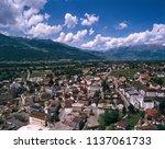 vaduz overview from vista point ... | Shutterstock . vector #1137061733