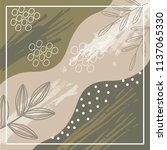glamorous scarf pattern design | Shutterstock .eps vector #1137065330