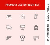 modern  simple vector icon set... | Shutterstock .eps vector #1137070673