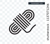 rope vector icon isolated on... | Shutterstock .eps vector #1137071246