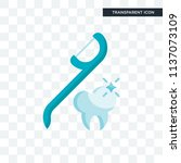 floss vector icon isolated on... | Shutterstock .eps vector #1137073109