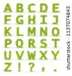 Green Fur Alphabet Letters...