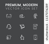 modern  simple vector icon set... | Shutterstock .eps vector #1137076289