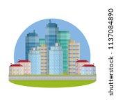 cartoon flat illustration   big ... | Shutterstock . vector #1137084890