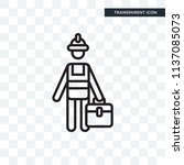 toolbox vector icon isolated on ... | Shutterstock .eps vector #1137085073