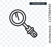 loupe vector icon isolated on... | Shutterstock .eps vector #1137086960