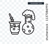 chemical reaction vector icon... | Shutterstock .eps vector #1137086993
