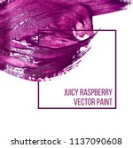 stain of purple oil paint on... | Shutterstock .eps vector #1137090608