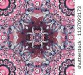 openwork pattern in various... | Shutterstock .eps vector #1137093173