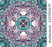 openwork pattern in various... | Shutterstock .eps vector #1137093179