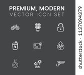 modern  simple vector icon set... | Shutterstock .eps vector #1137094379
