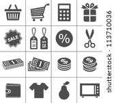 shopping icons. simplus series. ... | Shutterstock .eps vector #113710036