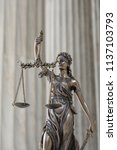 the statue of justice themis or ... | Shutterstock . vector #1137103793