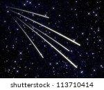 swarm of meteors | Shutterstock . vector #113710414