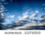 Dramatic stormy clouds. HDR image - stock photo