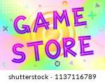 game store text  colorful... | Shutterstock .eps vector #1137116789