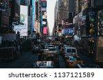new york  usa   may 30  2018 ...   Shutterstock . vector #1137121589