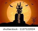 halloween background vector... | Shutterstock .eps vector #1137122024