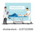 rescue emergency  vector... | Shutterstock .eps vector #1137123500