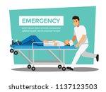 rescue emergency  vector... | Shutterstock .eps vector #1137123503