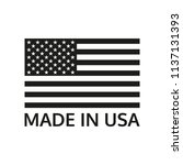 made in usa logo or label with... | Shutterstock .eps vector #1137131393