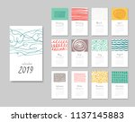 calendar 2019. templates with... | Shutterstock .eps vector #1137145883