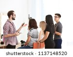 professional hairdresser... | Shutterstock . vector #1137148520