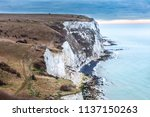 the white cliffs of dover ... | Shutterstock . vector #1137150263
