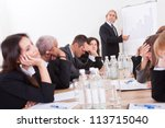 photo of sad business team... | Shutterstock . vector #113715040