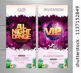 summer party poster design. all ...   Shutterstock .eps vector #1137152849