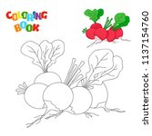 coloring book page for... | Shutterstock .eps vector #1137154760