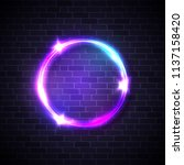 neon lights sign. circle... | Shutterstock .eps vector #1137158420