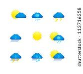 weather icons | Shutterstock .eps vector #113716258