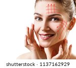 face lift anti aging lines on... | Shutterstock . vector #1137162929