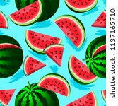 seamless pattern with ripe... | Shutterstock .eps vector #1137165710