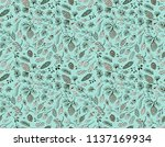 seamless vector pattern with... | Shutterstock .eps vector #1137169934