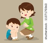 sad children wants to embrace... | Shutterstock .eps vector #1137170363