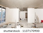 building is a new house for the ... | Shutterstock . vector #1137170900