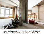 material for repairs in an... | Shutterstock . vector #1137170906