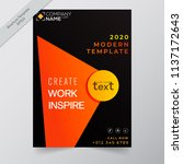 business annual report brochure ... | Shutterstock .eps vector #1137172643