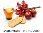 side view of digestive biscuits ... | Shutterstock . vector #1137179000