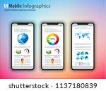 modern touchscreen mockup...   Shutterstock .eps vector #1137180839