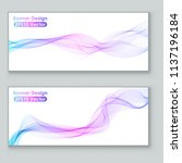 colorful flowing smoke motion... | Shutterstock .eps vector #1137196184